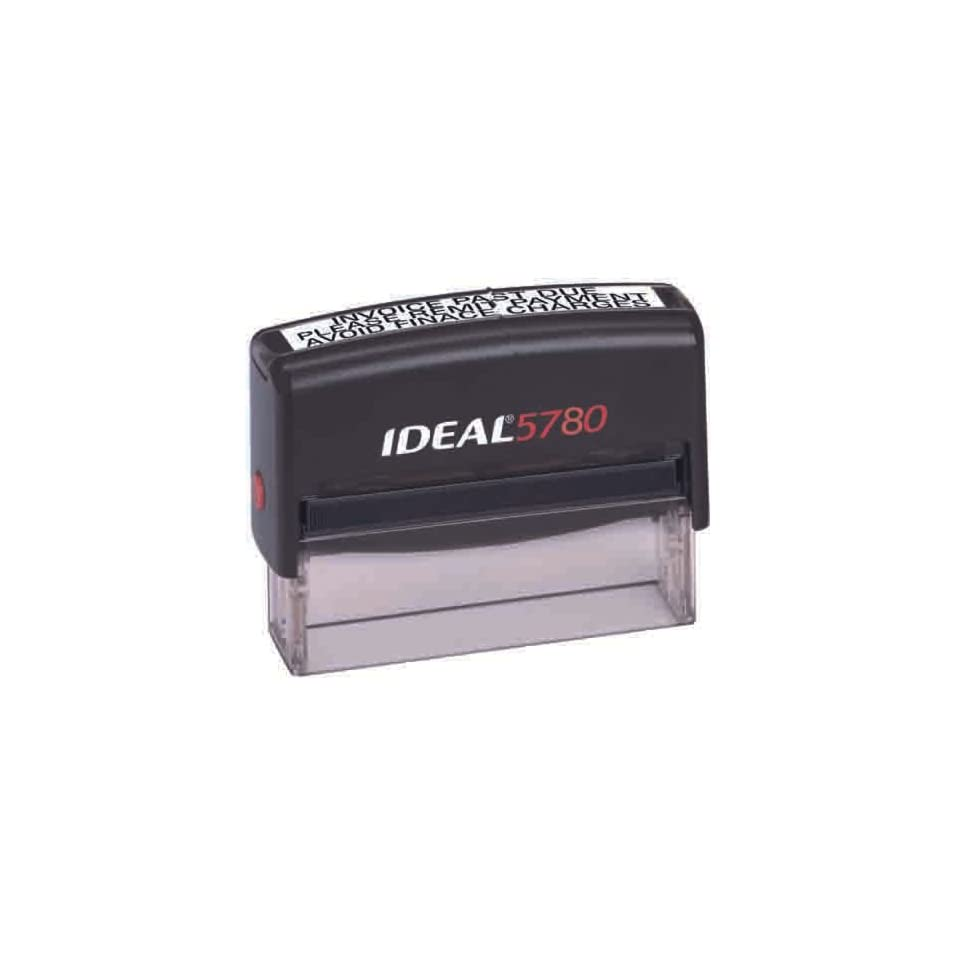 Custom Ideal 5780 Black Self Inking Rubber Stamp Automotive