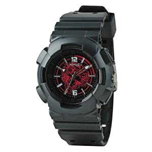 Ed Hardy Men's Striker Watch Red Tiger Dial with Black Band