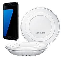 Creazy® 2016 Qi Fast Wireless Charger Rapid Charging Stand for Samsung Galaxy S7 / S7 Edge (White)