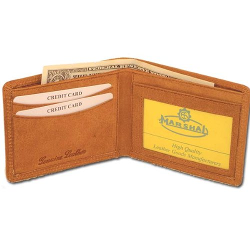 Hunter Leather Bi-fold Mens Wallet Brown#HU1160