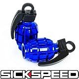 2 Anodized Grenade Valve Stem Cap Kit Set For Motorcycle Tires M1 Blue for Buell Blast