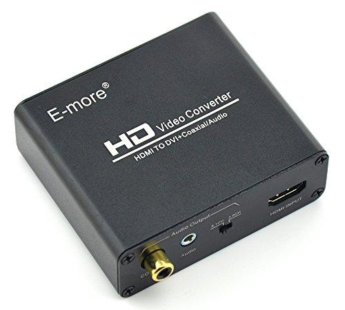 e more hdmi to dvi digital coax analog stereo coaxial audio video converter connector. Black Bedroom Furniture Sets. Home Design Ideas