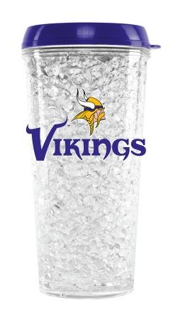 Nfl Minnesota Vikings Duck House Crystal Tumbler With Straw front-514567