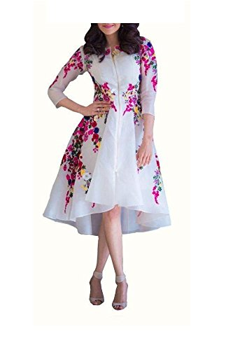 Sanjana Design Designer Womens Faux Georgette Princess Cut Dress (Western Wear) (SC8123_Free Size_Pink)
