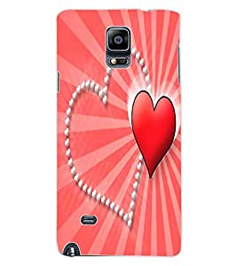 ColourCraft Love Hearts Design Back Case Cover for SAMSUNG GALAXY NOTE 4