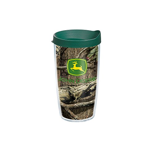 Tervis John Deere Mossy Oak Tumbler with Travel Lid, 16 oz, Clear (Tervis Tumbler Lids Pack compare prices)