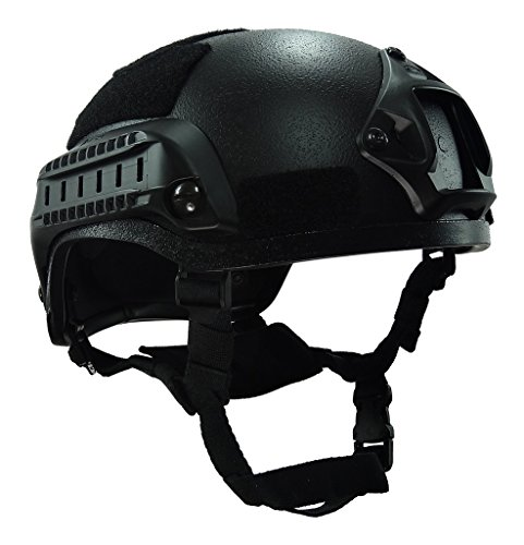 LOOGU MICH 2001 Anti-Riot ABS Helmet Action Version Plastic Paintball Navy Seal Helmet Airsoft Military Tactical Combat Army Use(Black) (Navy Seals Airsoft compare prices)
