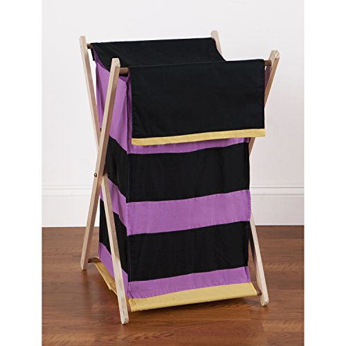 One Grace Place Sassy Shaylee Hamper, Purple, Black, and Yellow
