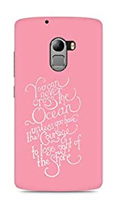 AMEZ you can never cross the Ocean Back Cover For Lenovo K4 Note