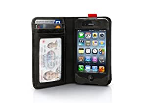 Twelve South BookBook for iPhone 4/4s, black | Vintage leather iPhone book case and wallet