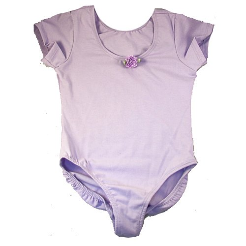 Little Girls Lilac Short Sleeve Ballet Dance Gymnastics Leotard 12M-8
