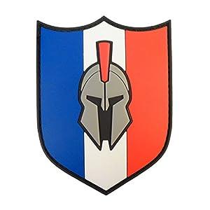 Spartan France Drapeau Drapeau PVC Gomme Morale Tactical Molon Labe Velcro Écusson Patch