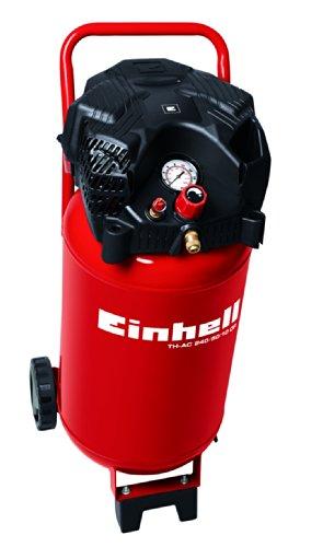 Einhell-Kompressor-TH-AC-2405010-OF-15-kW-50-L-Ansaugleistung-240-l-min-10-bar-lfrei-stehende-platzsparende-Bauweise