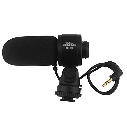 LP Shotgun Stereo Microphone,Photography Interview Videomic HD Professional Condenser,Stereo Video Microphone for DSLR Video Cameras (Camera Condenser Microphone compare prices)