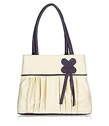 Fristo women's handbags (FRB-004) Cream and Purple