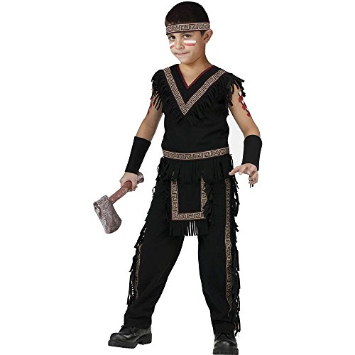 Midnight Indian Warrior Kids Costume