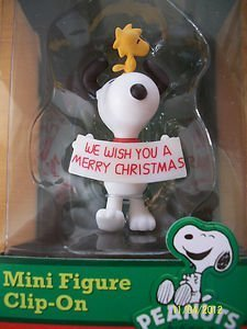 Officially Licensed Peanuts Christmas Snoopy & Woodstock Mini Figure Clip-On - 1