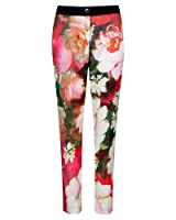 Ted Baker Tiina Rose Printed Trouser in Bright Pink