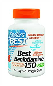 Doctor's Best Benfotiamine (150 mg), Vegetable Capsules, 120-Count