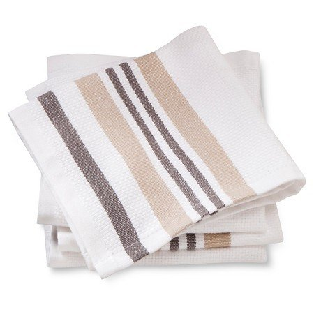 New Dishcloths 4 Pack Tan Basket Weave (Threshold Dishes compare prices)