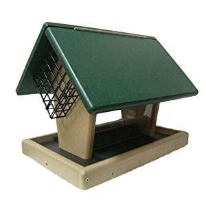 Poly-Lumber 7 Quart Hopper Suet Cages Bird Feeder