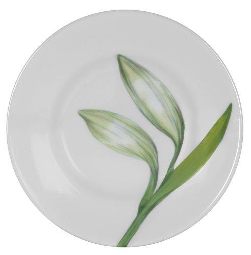 Corelle Lifestyles White Flower 6-Inch Dessert Plate