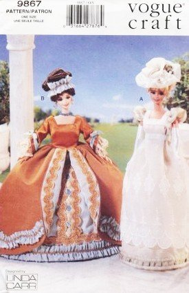 Vogue Craft 9867 Linda Carr Historical Doll Gowns Pattern