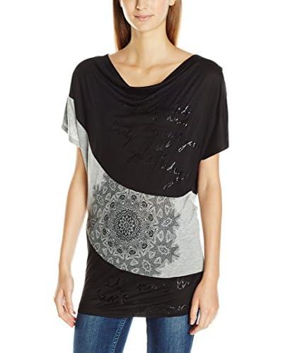Desigual T-Shirt Manica Corta Suiza [Nero]