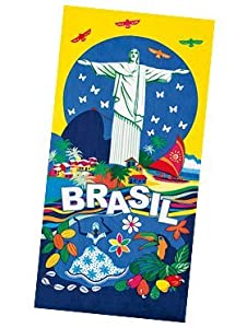 Amazon.com - Brazil Beach Towel - Type VIII | Toalha de