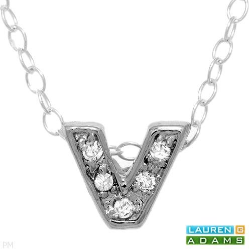 Lauren G. Adams Stunning Brand New Necklace with Cubic Zirconia Made in 925 Sterling Silver Length 16in