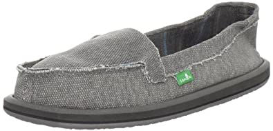 Sanuk Women's Shorty Sidewalk Surfer Slip-On,Grey,5 M US