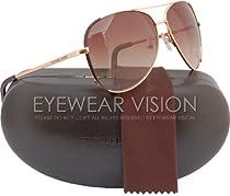 Michael Kors M2045S Sicily Aviator Sunglasses Dark Brown (200) MK 2045 200 Authentic