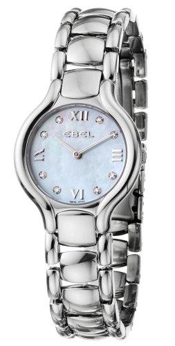 Ebel 9157421-49850 - Reloj de cuarzo para mujer, correa de acero inoxidable color plateado