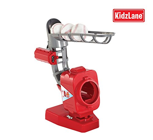 Kids Baseball Pitching Machine, Adjustable To 3 Different Heights back-38692
