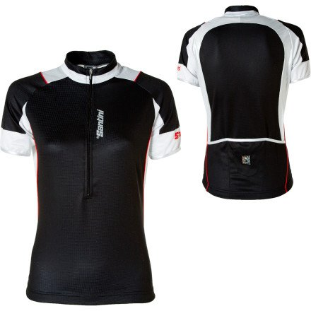 Buy Low Price Santini Sharp Half-Zip Jersey – Short-Sleeve – Women's (B007PP5YGS)