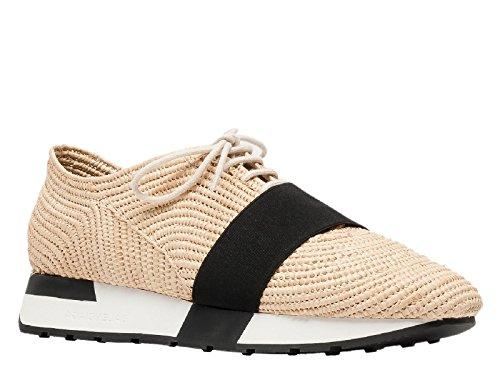 Sneakers Balenciaga in rafia naturale intrecciata a mano - Codice modello: 410938 W02N1 - Taglia: 40 IT