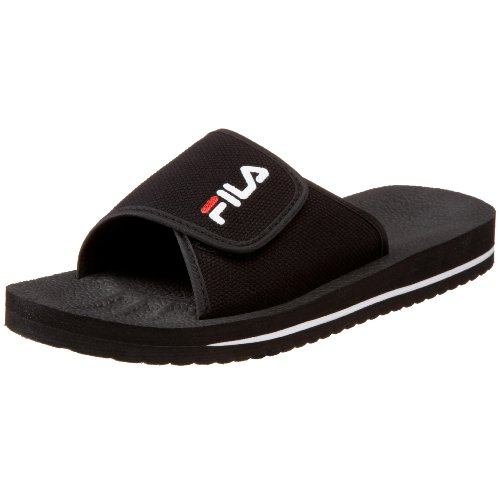 Fila Men's Slip On Sandal,Black/White/Red,9 M US