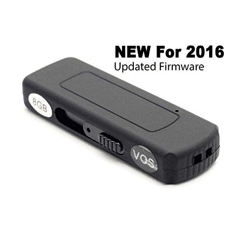 EyeSpySupply - Voice Activated Digital Spy Recorder Easily - Hidden & Discreet - 8 GB USB Flash Drive