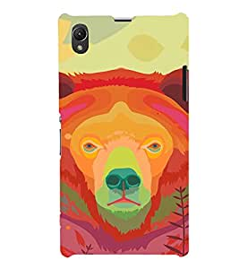 EPICCASE Teddy Face Mobile Back Case Cover For Sony Xperia Z1 (Designer Case)