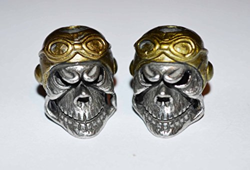 Aces High WWI Fighter Pilot Paracord Skull Bead Twin Pack (Wwi Aces compare prices)