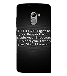 PrintDhaba Quote D-2877 Back Case Cover for LENOVO K4 NOTE A7010 (Multi-Coloured)