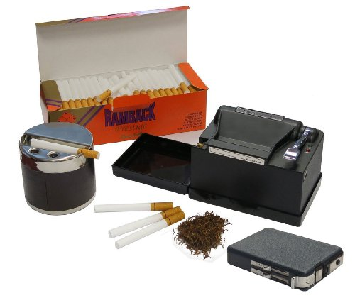 Powermatic 2 Plus Electric Cigarette Machine Package w/ Box of 200 Filter Tubes, Ethereal Ashtray & Cigarette Case Dual Flame Lighter (Tobacco Package compare prices)