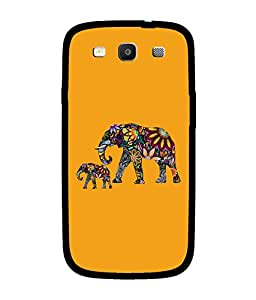 Chnno 2d ELEPHANT Printed Back Cover For Samsung I9300I Galaxy S3 Neo
