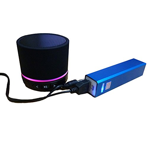 Portable Bluetooth Speaker: Super Bass Wireless Rechargeable Hands Free Speakerphone Microphone + A High Capacity Power Bank Compatible With Any Bluetooth Enabled Media Device Like Iphone Ipad Ipod All Android Phones Tablets Macbooks Laptops Mp3 Players (