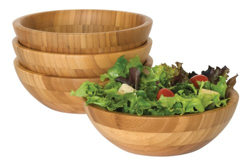 Lipper International 8203-4 Small Bamboo Bowls, Set of 4 (Bamboo Dishes compare prices)
