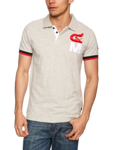 Drunknmunky Hurdle Polo Shirt Men's T-Shirt Grey Marl Small