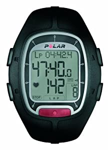 Polar RS100 Montre de course, avec WearLink, M-XXL  Noir