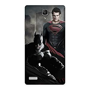 Gorgeous knight Vs day Ready Multicolor Print Back Case Cover for Redmi Note
