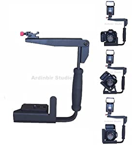 Pro Video Stabilizing Handle Grip for Fujifilm FinePix E500 Zoom Vertical Shoe Mount Stabilizer Handle