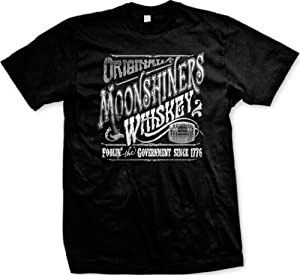 Original Moonshiners Whiskey Men's T-shirt, Foolin' The Government Since 1776 Moonshine Design Men's Tee